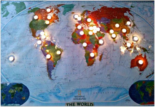 candles on the world -- CBM Christmas chapel